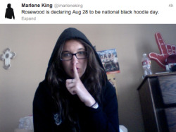 Every tuesday is my national black hoodie day haha
