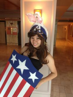 volitionary:  Enjoy this picture of me as a Captain America bunny.