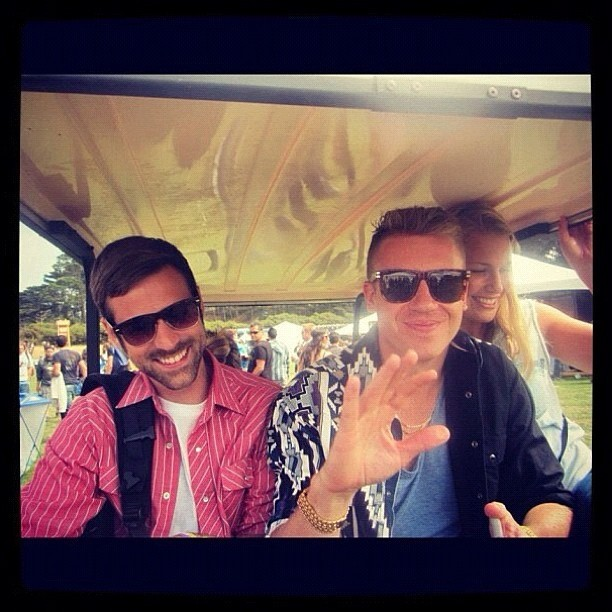 Outside Lands in SF last year. Me and @ryanlewis and @baba_g dippin….I stole this from Ryan who stole it from someone.   (Taken with Instagram)