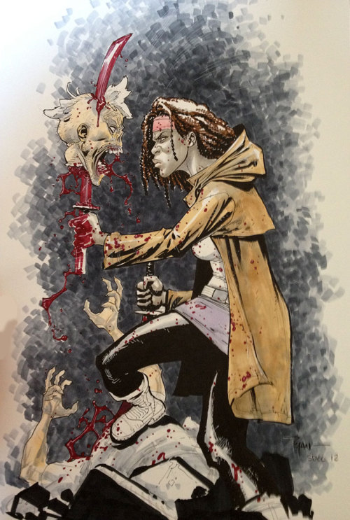 Michonne from Walking Dead by Ryan Ottley