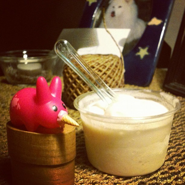 Salted caramel gelato #happylabbit #frankkozic (Taken with Instagram)