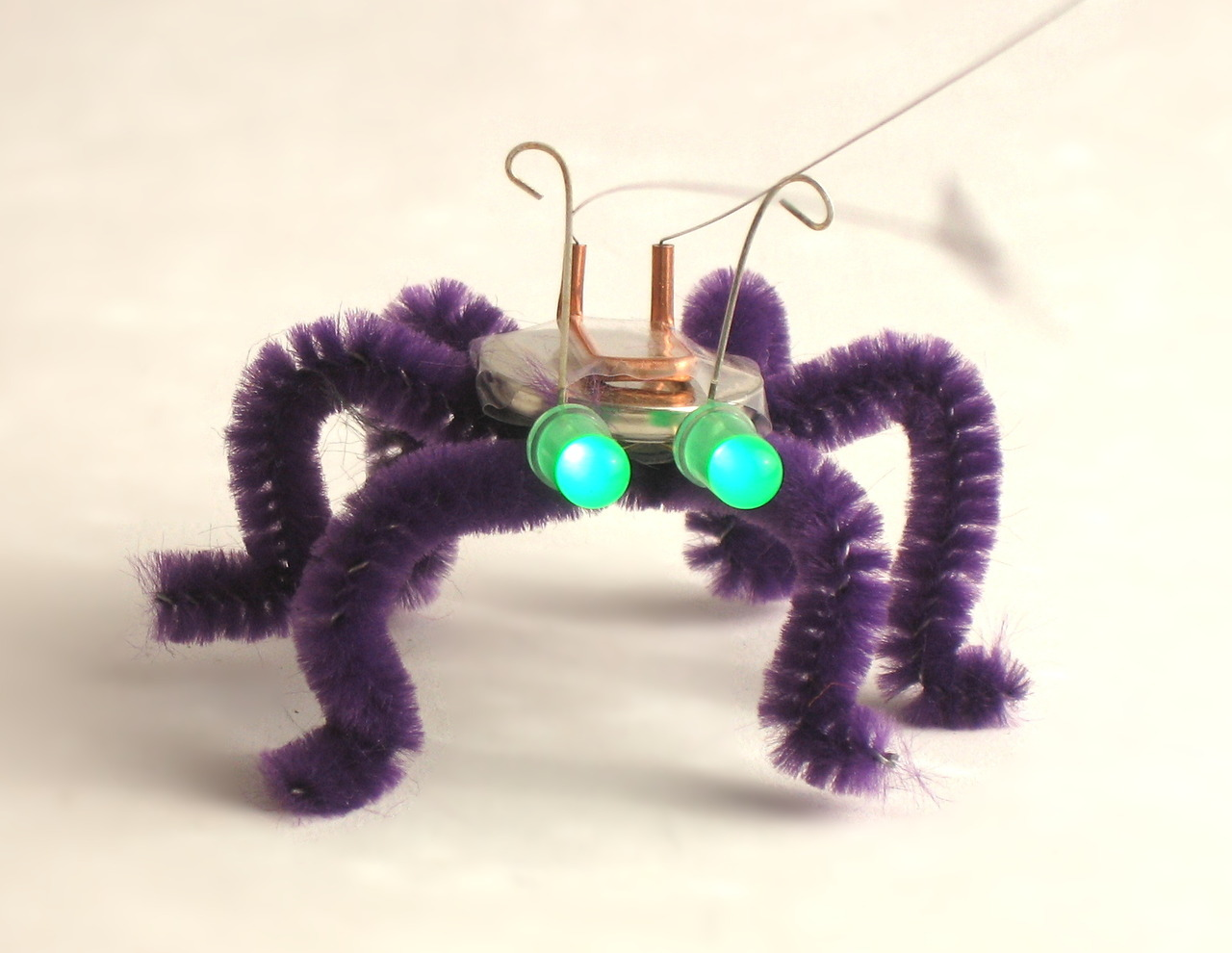 "nysci:  LOOK WHAT'S COMING TO WORLD MAKER FAIRE - Blinkybugs are simple, electronic ""insects"" that respond to movement, vibration, and wind by blinking their LED eyes. What started as an afternoon DIY project has become a combination book and kit, and a project not to be missed at World Maker Faire 2012. See more of what's coming to World Maker Faire here."