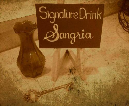 Signature drink chalkboard sign for wedding I created.