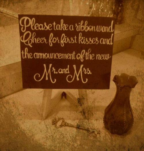 Mr. & Mrs. chalkboard wedding sign.