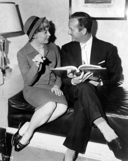 avasgal:  Shirley MacLaine and David Niven go over the script for Ask Any Girl (1959).