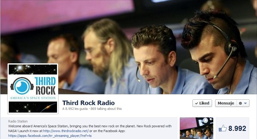 Third Rock Radio's page on facebook has Bobak Ferdowsi featured on its timeline cover