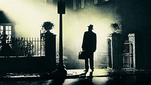 "The Exorcist (1973) William Friedkin Alright, let's get this shit back on track… There's really nothing like sitting alone in a big, old theatre, and wondering if you're going to make a total fool of yourself. The Exorcist, however, worms its way inside you; it provides a deep unease and an unsettling sense of horror, rather than jump scares.I took notes throughout this viewing and I'm still not entirely sure how it actually works. It's a slow burn, certainly - the film starts in the middle east, and stays there for what one would think is far too long. We then follow two characters, separately, who don't meet up until halfway through. The titular event doesn't come until the very end. But still, the pacing seems perfect for the film. It makes the shocking moments have an even greater impact. There are so many things about it that just seem unusual, it really keeps you feeling unbalanced.Much of my horror comes from the state of medicine of the time period, intensified through the identification with the mother, and the extent to which she tries to deal with the situation rationally. Probably the biggest personal horror was that it almost convinced non-believer me that the situation was real and the exorcism necessary (hah). The spider-walk scene, as the telling sign that the daughter is possessed and not just mentally ill, is very effective (although the book version sounds even creepier - ""In the book, the spider-walk is very quiet, and consists of Regan following Sharon around and occasionally licking her ankle"" - that sentence gives me the howling fantods). What really struck me was how the realistic production effects (filming inside a freezer to make the actors' breath visible, physically moving the actors using mechanics) lent so much weight to the images and effects.I would like to watch this again and just pay attention to the sound. Plus, all of the bells in the score reminded me a little of Goblin/Suspiria (or is that just me?). #169 - 7/28/2012"