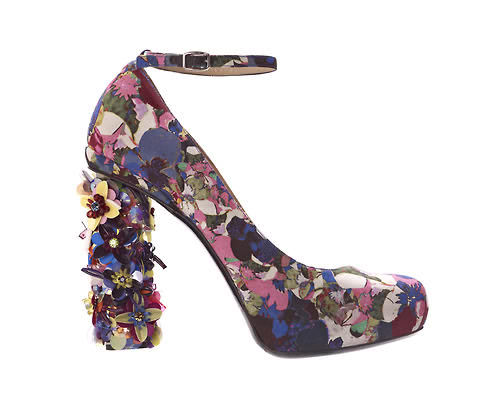 The cutest floral printed pumps by Nicholas Kirkwood