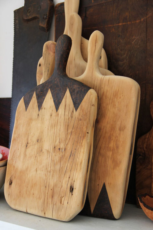 barnwoodanchors:  Cheeseboards made by Ariele from reclaimed, antique flooring.