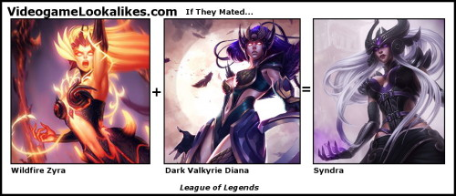 If Wildfire Zyra and Dark Valkyrie Diana mated, it'd be awesome you'd get upcoming League of Legends champion Syndra. This just in: Riot has ret-conned Dark Valkyrie Diana, a move that no doubt thrills the people who already bought the skin.