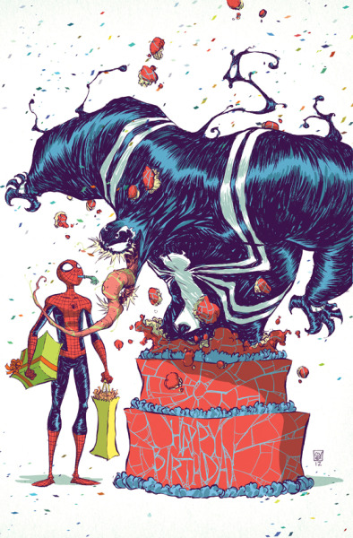 geekmythology:  Spider Man and Venom birthday by *skottieyoung