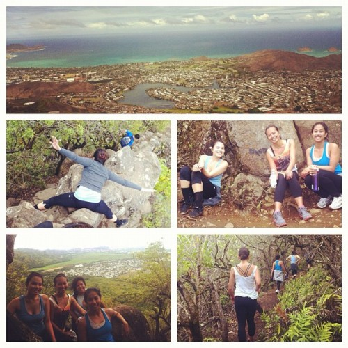 Olomana hike- my first hardcore hike involving ropes and rock climbing! #summer #hilife  (Taken with Instagram)