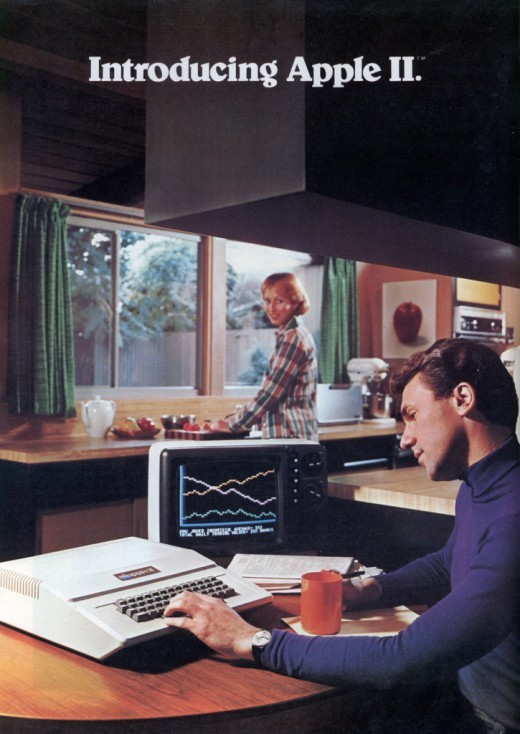 The ad, introduced in September, 1977, was unusually sleek for a 70s Apple ad.