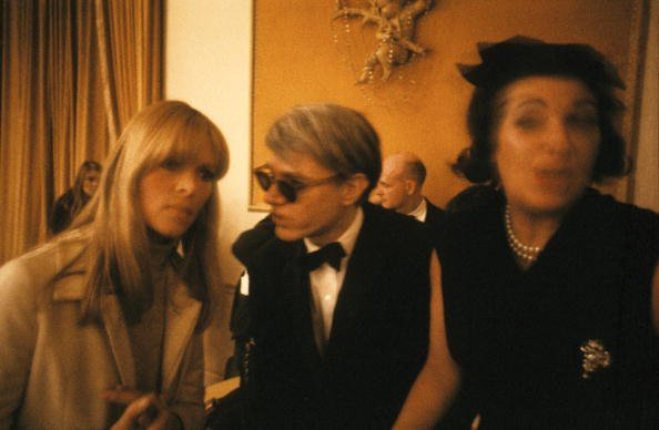 DELMONICO HOTEL NICO and Andy WARHOL, Nico  with artist and manager Andy Warhol at the New York Society for Clinical Psychiatry annual dinner Photo by Adam Ritchie-Redferns
