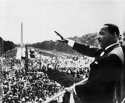 "August 28th 1963: 'I have a dream' speech  On this day in 1963 during the March on Washington for Jobs and Freedom, Martin Luther King Jr. made his famous speech. He called for an end to racial discrimination and a new era of equality, true to the ideals of America's founding documents. He delivered the speech from the steps of the Lincoln Memorial to a crowd of over 200,000 supporters of civil rights. The speech was a key moment of the Civil Rights Movement, and is widely considered one of the most famous and influential speeches of all time.  ""I have a dream, that my four little children will one day live in a nation where they will not be judged by the color of their skin but by the content of their character. I have a dream today!"""