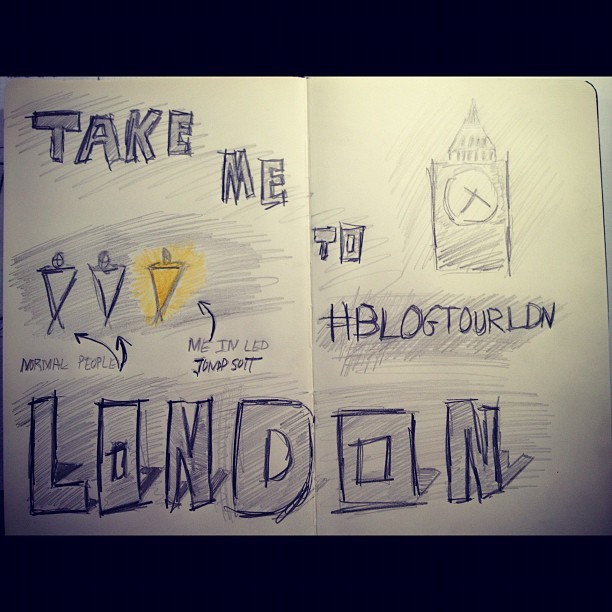 My notebook's request this morning #london #blogtourldn  (Taken with Instagram)