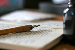 rusticmeetsvintage:  writing, by louveciennes, via Flickr Also see their blog Coriandersea at http://www.coriandersea.com/