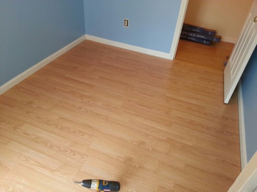 The aforementioned floor we layed.  I'm no carpenter, but I think it came out pretty damn good.   T