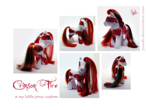 Crimson Fire by ~puush I recommend clicking through the the original page for this one. You can see the image HUGE and really see the detail put into this!