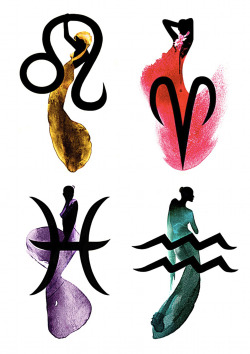 Beautiful Fashion Inspired Horoscope Signs by JULIA PELZER