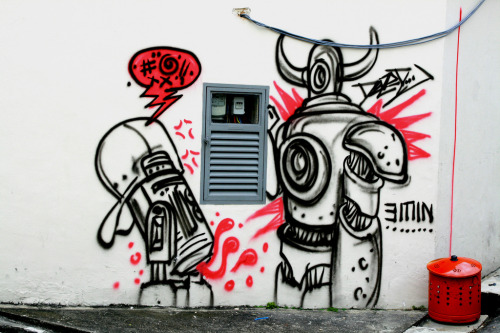theurbanlion:  Singapore Graffitti (by Kansk)
