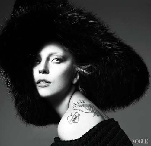 Lady Gaga photographed by Mert Alas and Marcus Piggott for Vogue, September 2012