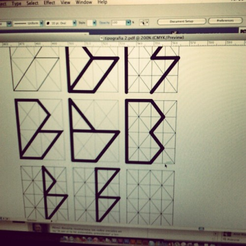 Working on Barkeno typeface (instagram)