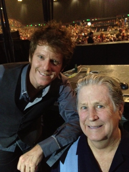 Scott Bennett and Brian Wilson brianwilsonlive:  Brian helps Scotty Bennett celebrate his Birthday