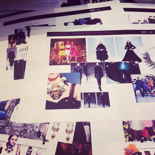 Scouring through our own trend reports preparing for the new season!