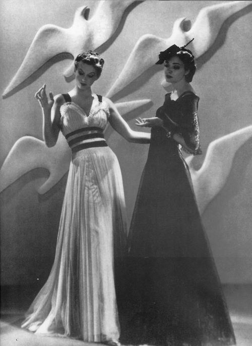 Chanel dresses photographed by Man Ray for Harper's Bazaar, 1937