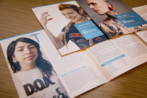 "Have a look at these 8 Panel Instructional Brochures we printed for InfiniteBody.com.   Product: Roll Fold Brochure Stock: 100# Gloss Text Flat Size: 27.94 x 8.5"" Final Size: 7 x 8.5"" Inks: Full Color Finishing: Folded (3) times to create (8) panels - roll fold"