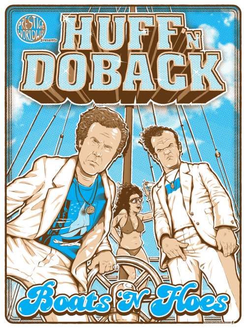 Prestige Worldwide Ad by Darin Shock For the Step Brothers art show at Gallery1988 / Tumblr.