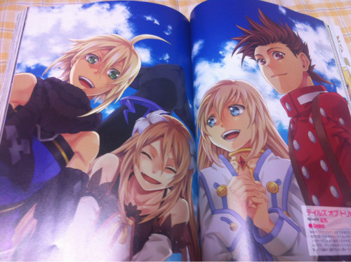 lunawing:  A lovely illustration of the heroes and heroines of Tales of Symphonia in Tales of Magazine October 2012.