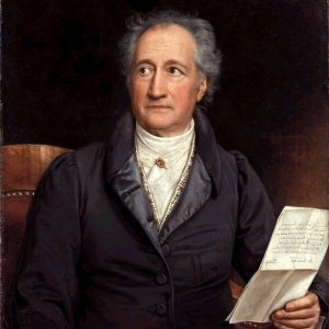"German writer Johann Wolfgang von Goethe was born on this day in 1749. In honor of his legacy, here is a poem in which Goethe celebrates another poet. While reading it, think not only of the Greek poet, Anacreon, but also of the ""living beauty"" that Goethe left behind for us. Anacreon's Grave  Here where roses bloom, where laurel and vine both mingle, Where the turtledove coos, where the cricket sings in delight, What grave is this that the gods have adorned and planted, With living beauty? It's where Anacreon rests. The happy poet enjoyed spring, summer and autumn: And this mound, at last, from winter is sheltering him.   Read more of Goethe's poetry here."