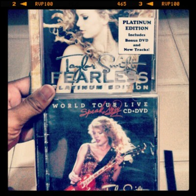 #Swiftiers #Taylorswift #fearless #speaknow #collection #cd #album #mine.  (Taken with Instagram)