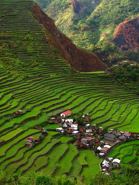 visitheworld:  Batad Rice Terraces in Ifugao Province, Philippines (by eazy traveler).