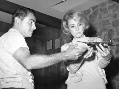Rod Serling with Inger Stevens (The Lateness of the Hour)