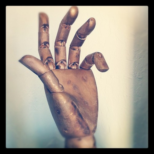 Around the house… #hand #drawing #c3po (Taken with Instagram)