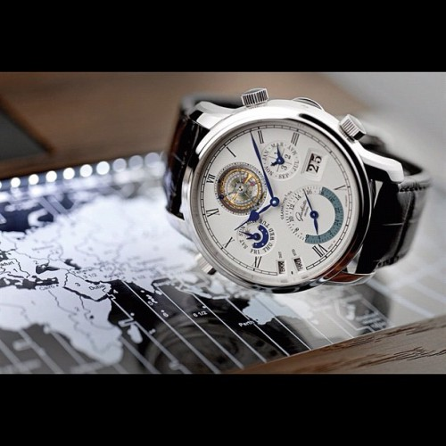 Glashütte Original Grande Cosmopolite #Tourbillon #Glashutte #watch #watches #luxury #Tourneau #world #time #map (Taken with Instagram)