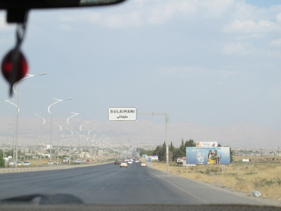 Entering Slemani again after our Ranye road trip!