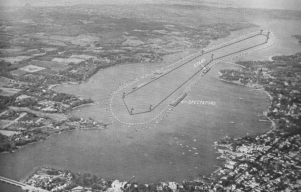 A Gold Cup Race course, August 24-25th, 1929. Red Bank, New Jersey
