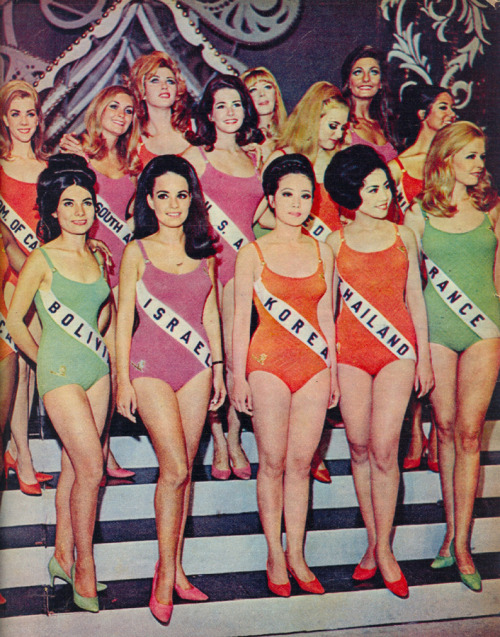 vintagegal:  Miss Universe Pageant, 1968