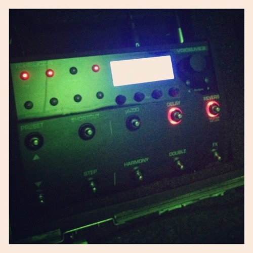 Weapon of choice. #endpattern #tchelicon #rehearsal (Taken with Instagram)