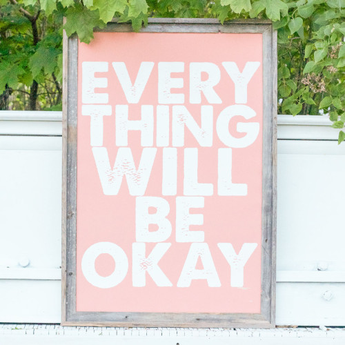Fab.com | Everything Will Be Okay Coral  inhale, exhale.