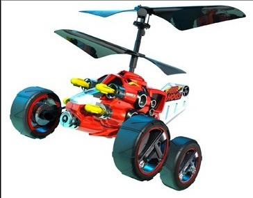 xindigo:  On the ground it drives like your typical off-road RC vehicle, but then it can fly, IT CAN FLY!  AND THEN IT CAN SHOOT TOO!  for $50 bucks it may not be so bad! - http://airhogs.com/en/products/hover-assault  We think this RC toy is a slice of genius. We've got a lot more to say about it on our full blog www.effyountoys.blogspot.com