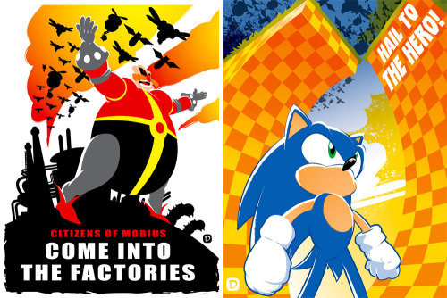 it8bit:  Sonic Prints 2012 Created by Nigel Dobbyn (via:geeksngamers)