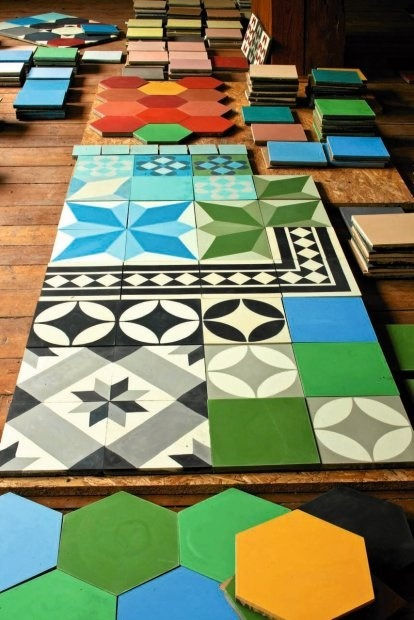 Great Design approach for use of Tile.. great colors and patterns!
