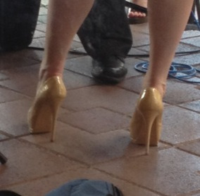 Meghan McCain's very high heels  - Chris