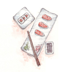 rozzhew:  Eating sushi