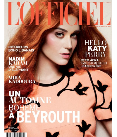 Katy Perry Is Flame-Haired And Florence-Esque On The Cover Of L'Officiel